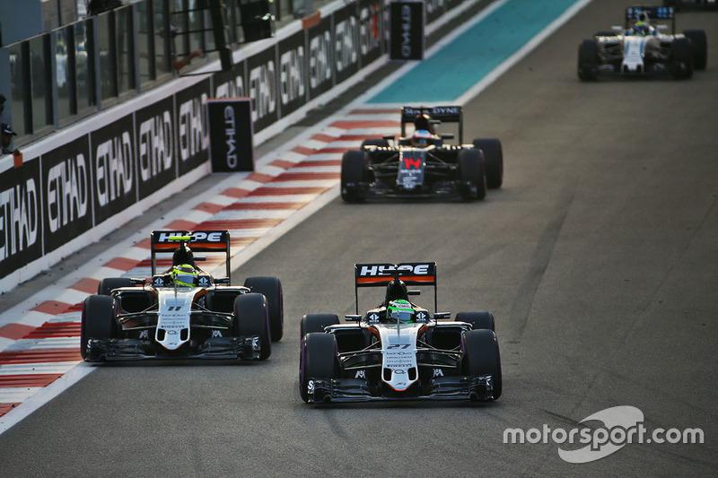 Já a Force India, com o sétimo de Hülkenberg e o oitavo de Pérez, garantiu o quarto lugar entre os Construtores, atrás somente de Mercedes, Red Bull e Ferrari.