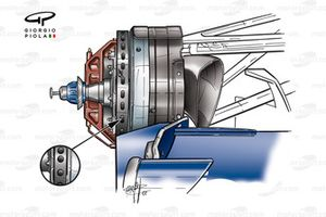 Williams FW24 2002 front brake detail