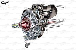 McLaren MP4-29 4 piston rear brake caliper (DUPLICATE)