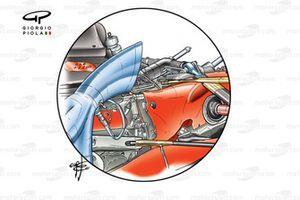 Ferrari F2003-GA engine & rear suspension detail