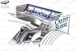 Aileron arrière de la BMW F1.07
