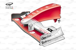 Toyota TF104 nose and front wing design used up until the German GP