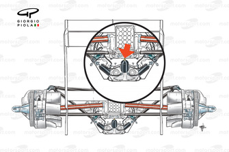 Mercedes W02 rear suspension layout