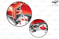 Ferrari F2012 bargeboards, older specification lower inset