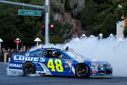 Jimmie Johnson, Hendrick Motorsports Chevrolet in the streets of Las Vegas