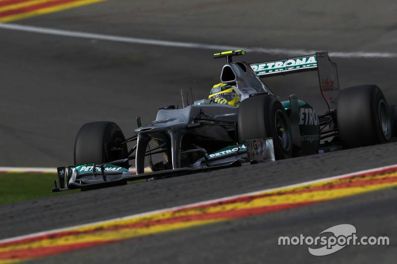 Nico Rosberg, 50 arranques de carrera Mercedes AMG F1 - Bélgica 2012