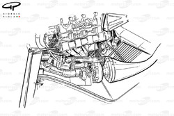 Installation du turbo de la McLaren MP4-4