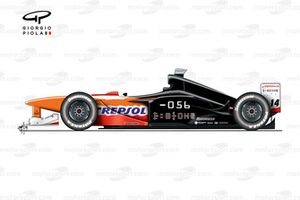 Arrows A20 1999 side view