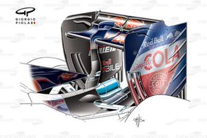 Toro Rosso STR11 low downforce achtervleugel