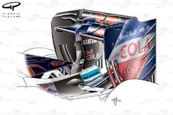 Заднее антикрыло Toro Rosso STR11 с низким уровнем прижимной силы