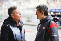 Mario Isola, Racing Manager, Pirelli Motorsport, with Guenther Steiner, Team Principal, Haas F1 Team