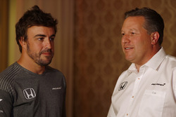 Fernando Alonso and Zak Brown, Executive Director, McLaren Technology Group, announce Fernando's deal to race in the 2017 Indianapolis 500 in an Andretti Autosport run McLaren Honda car