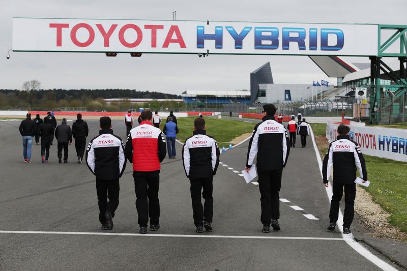 TOYOTA GAZOO Racing during track walk