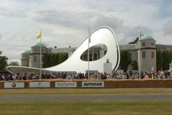 Renault sculpture at Goodwood
