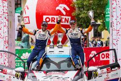 WRC3 podium: winner Nil Solans, Miquel Ibanez, Ford Fiesta R2