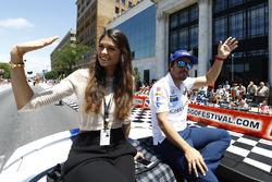 Fernando Alonso, Andretti Autosport, Honda, mit Freundin Linda Morselli