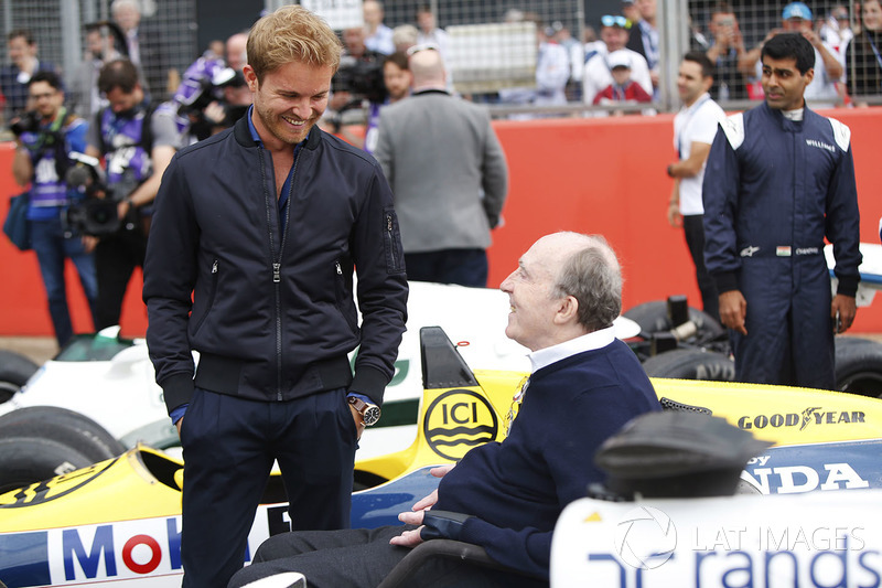 Nico Rosberg con Sir Frank Williams