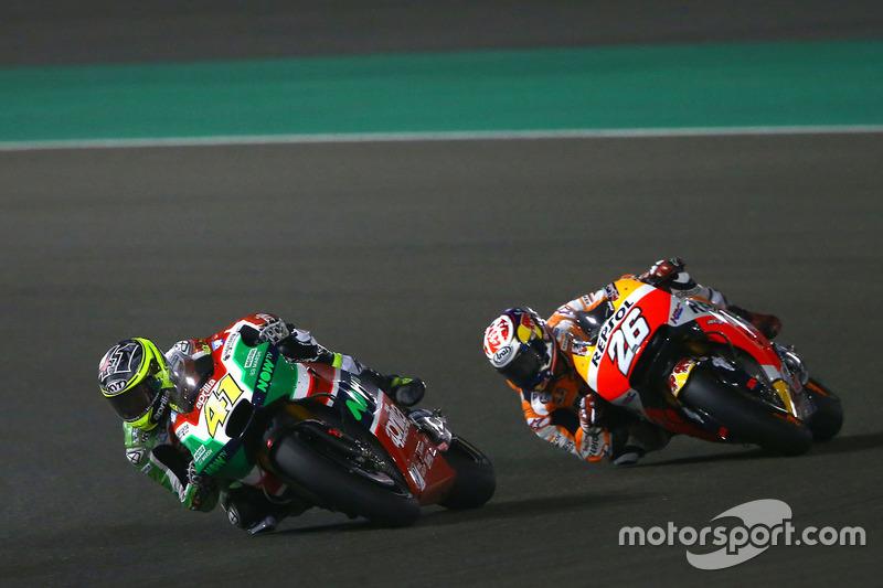 Aleix Espargaro, Aprilia Racing Team Gresini; Dani Pedrosa, Repsol Honda Team