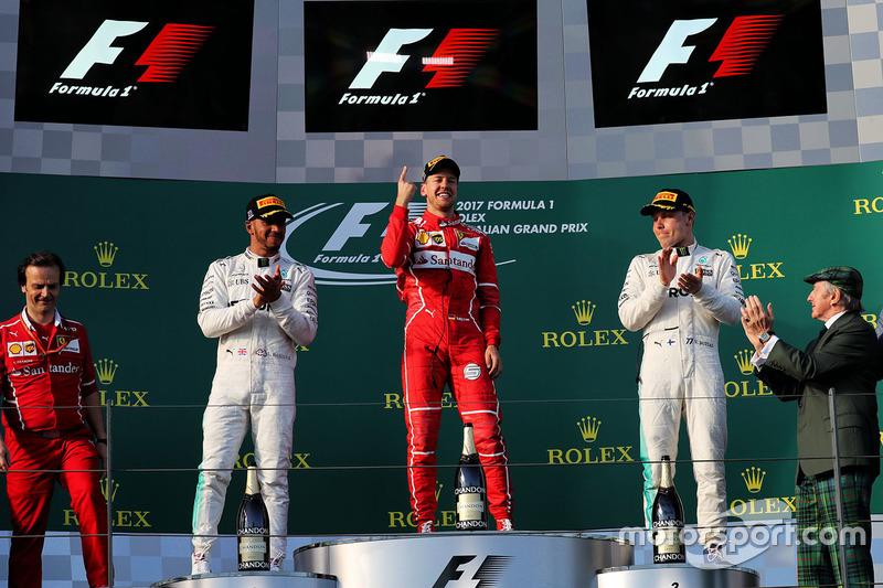 As decepções de 2015 e 2016 chegaram ao fim logo na abertura da temporada de 2017, na Austrália, quando Vettel e a Ferrari desbancaram as mercedes e começaram o ano na liderança. Era o fim do maior jejum de Vettel: 27 provas sem vencer