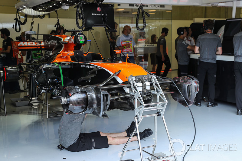 The chassis detail of McLaren MCL32
