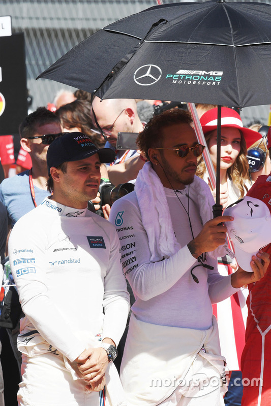 Felipe Massa, Williams and Lewis Hamilton, Mercedes AMG F1