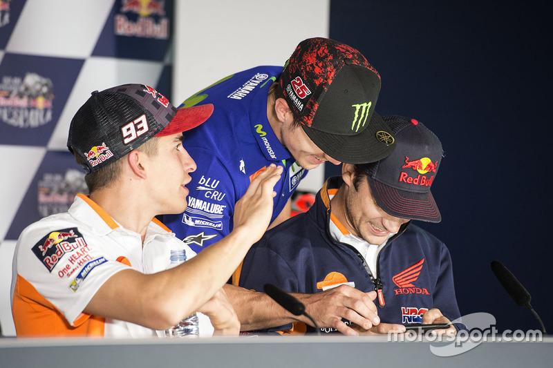 Dani Pedrosa, Repsol Honda Team, Maverick Viñales, Yamaha Factory Racing, Marc Marquez, Repsol Honda Team