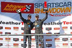 Podio: i vincitori della gara Jordan Taylor, Ricky Taylor, Wayne Taylor Racing