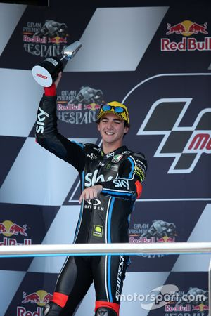 Podium: tweede plaats Francesco Bagnaia, Sky Racing Team VR46