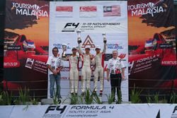 Podium: race winner Danial Frost, second place Presley Martono, third place Isyraf Danish
