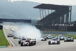 Départ : #22 G-Drive Racing, Oreca 07 - Gibson: Memo Rojas, Ryo Hirakawa, Leo Roussel en tête
