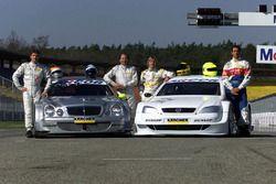 Bernd Schneider en Klaus Ludwig met Mercedes-Benz CLK, HWA AG; Joachim Winkelhock en Manuel Reuter,
