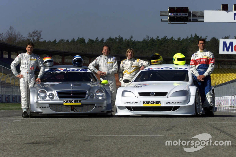 Bernd Schneider and Klaus Ludwig with Mercedes-Benz CLK, HWA AG;  Joachim Winkelhock and Manuel Reuter, Opel
