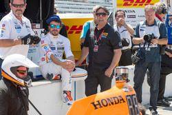 Fernando Alonso, Andretti Autosport, Honda, mit Michael Andretti