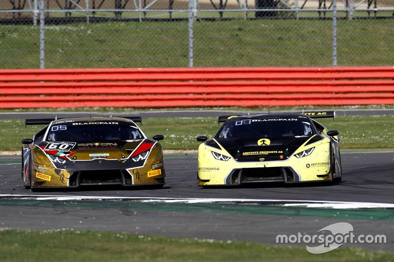 #60 Raton Racing, Lamborghini Huracan GT3: Andrea Amici, Dennis Lind, Stefano Costantini eb #77 Barw
