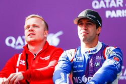 Felix Rosenqvist, Mahindra Racing; Antonio Felix da Costa, Amlin Andretti Formula E Team