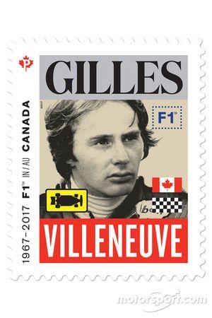 Un timbre de Gilles Villeneuve