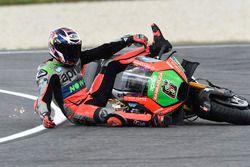 Авария: Штефан Брадль, Aprilia Racing Team Gresini
