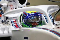 Felipe Massa, Williams FW38 with the Halo cockpit cover
