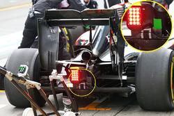 Détails de l'arrière de la McLaren MP4-31