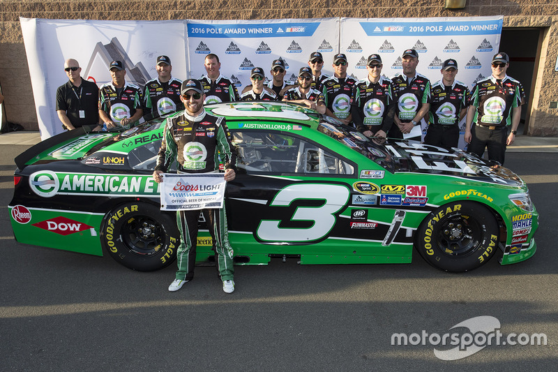Ganador de la pole Austin Dillon, Richard Childress Racing Chevrolet