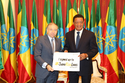 Jean Todt, Presidente de la FIA con Presidente etíope Mulatu Teshome