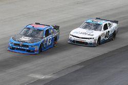 Jeb Burton, Richard Petty Motorsports Ford, Brennan Poole, Chip Ganassi Racing Chevrolet