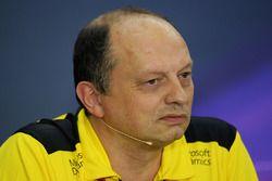 Frédéric Vasseur, Directeur de la Compétition Renault Sport F1 Team durant la conférence de presse