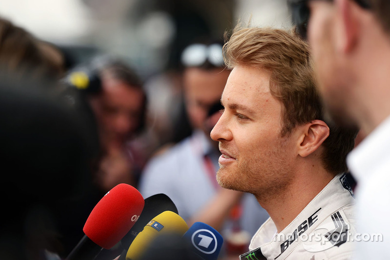 Nico Rosberg, Mercedes AMG F1 Team with the media