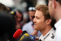 Nico Rosberg, Mercedes AMG F1 Team with the media