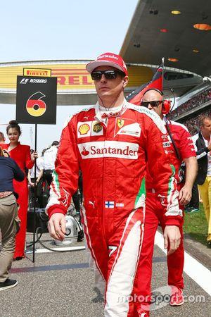 Kimi Raäkkönen, Ferrari, in der Startaufstellung