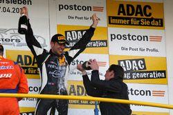 Podium: #63 GRT Grasser-Racing-Team, Lamborghini Huracán GT3: Rolf Ineichen mit Gottfried Grasser, T