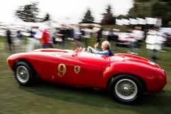 Andreas Mohringer drives his 1953 Ferrari 375 MM Pininfarina Spider