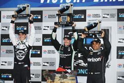 Podium: race winner and 2016 champion Simon Pagenaud, Team Penske Chevrolet, second place Graham Rah