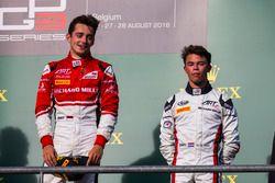 Podio: ganador Charles Leclerc, ART Grand Prix, tercer lugar Nyck De Vries, ART Grand Prix
